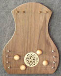 door harp walnut/celtic